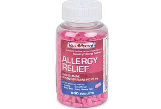 [IN-STOCK] ValuMeds Allergy Medicine (600 Tablets) Antihistamine, Diphenhydramine HCl 25 mg   Children and Adults   Relieve Itchy Eyes, Runny Nose, Sneezing (Compare to Active Ingredient in Benadryl Allergy)