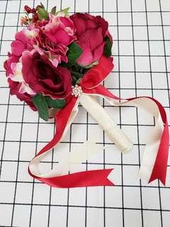 👰婚後物資🤵靚靚紅色絲花球