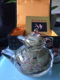 玻璃瓶茶壺內繪畫清明上河圖工藝品