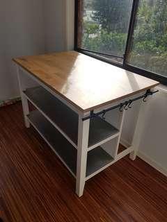 Light oak wood top Kitchen island bench
