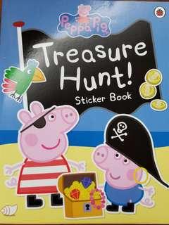 全新Peppa Pig Treasure Hunt sticker book (原價$96)