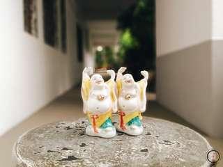 DC053 2pcs Mini Laughing Buddha figurine