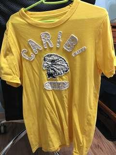 🚚 台灣製 CARIBI 男生 T恤 黃色 老鷹圖案