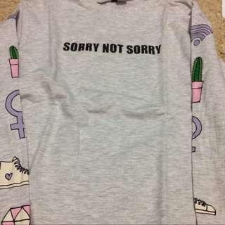 Sweatshirt H&M sorry not sorry