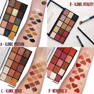 Revolution Re-Loaded palettes