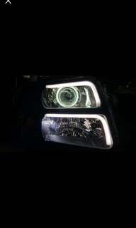 Suzuki wagon R+全新台製頭燈 日行燈連天使眼