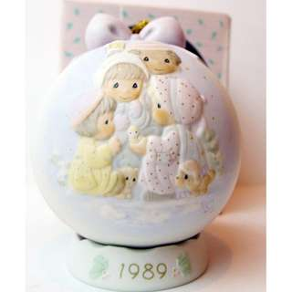 MIB Precious Moments Ornament with Holder PEACE ON EARTH, Limited Edition Special Issue 523062 1989 + FREE Post