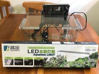 全新水族燈(送二手水族魚缸、暖管、濾水器)