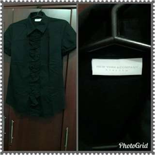 Branded Black polo top