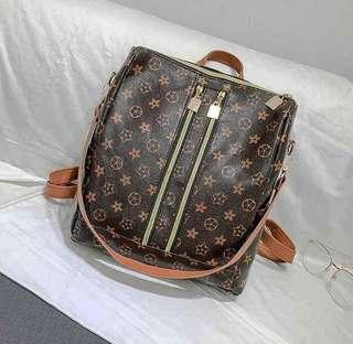 LV Inspired Backpack/Sling Bag