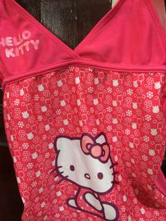 Original Hello Kitty suit (top only) and rash guard for girls