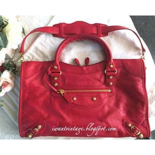 Balenciaga Giant 12 Gold City-Rouge Cardinal (Red)