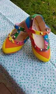 baby rainbow shoes - valentino