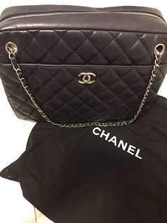 Chanel blue tote bag