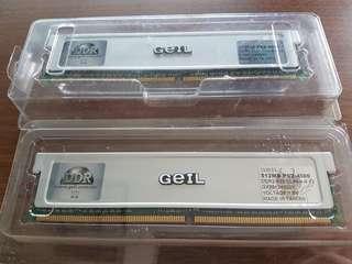 2 * 512MB GeIL DDR2 RAM