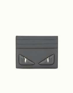 Fendi monster studded card holder