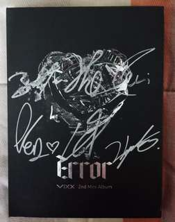 VIXX ERROR SIGNED ALBUM (ALL MEMBERS)