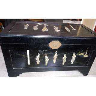 Antique Chinese Camphor Chest with Mother of Pearl (bottom part of picture)