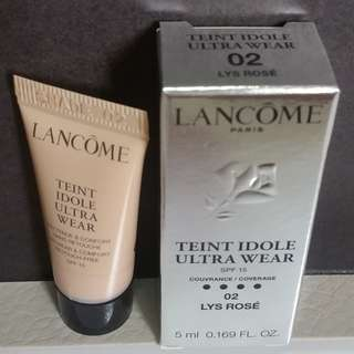 Lancome Ultra Wear (SPF15) 02 LYS ROSE - 5ml