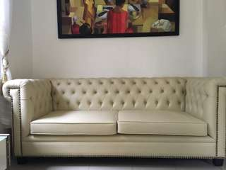 Chair table Chesterfield sofa for sale sala set couch leathe
