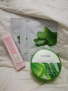 Mumuso CC cream, Aloe Vera moisturizing gel