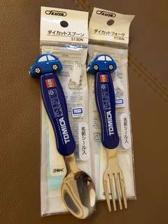 Brand new in package Tomica Toddler cutlery set