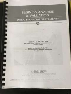NTU NBS AC3103 Equity & Valuation PHP Textbook