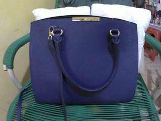 Les Castino Blue Handbag