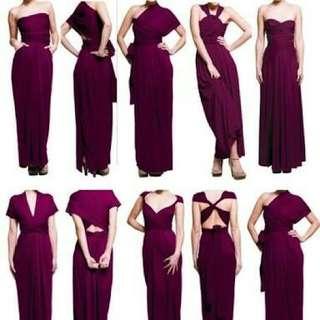 Infinity Dress (Maxi Dress) Burgundy