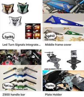 Kawasaki Z900 accessories