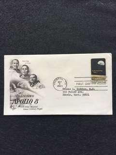 US 1969 Apollo 8 FDC stamp