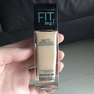 Maybelline fit me matte+poreless foundation 120 classic ivory