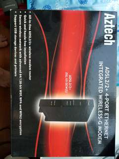 Brand new unopened Aztech modem + router