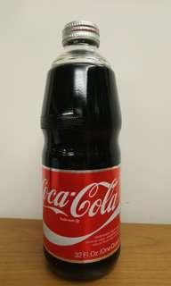 罕有coca cola foil label玻璃樽, 原水原蓋