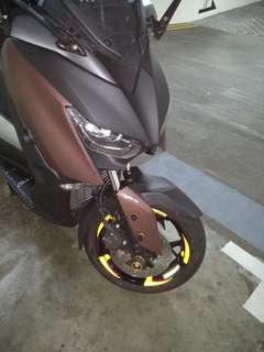 Satisfied customer. Yamaha Xmax. Rim stickers decal.