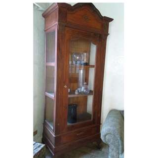 Antique Wood and Glass Cabinet#4