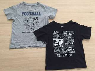 Uniqlo Mickey Mouse Tshirt Set