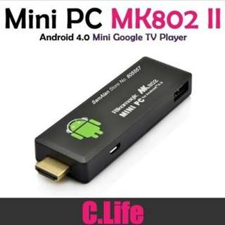 【Promotion】MK808 Android 4.1 Jelly Bean Mini PC A9 Dual Core Stick TV Dongle/MK808/MK809