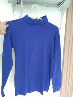 Indigo turtle neck top (gopd fabric)