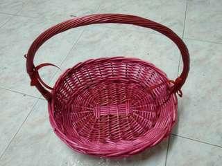 Dark pink basket
