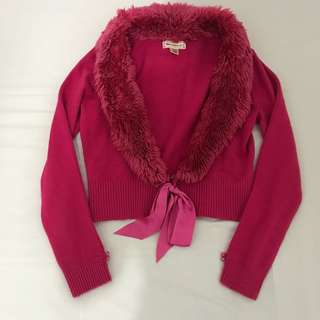 PRELOVED Cardigan with fur