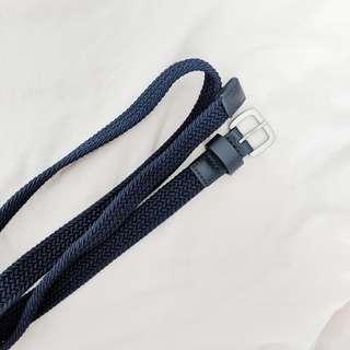 Uniqlo navy braided belt