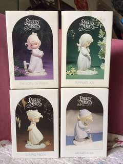 Full set of 4 Limited Edition Precious Moments Four Seasons Series