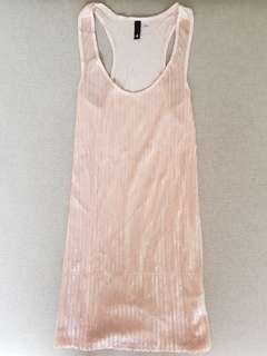 Light pink sequined long top