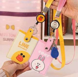 🚚 Cute Card Lanyard with retractable reel