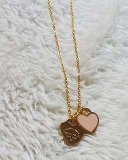 Tiffany Necklace Gold Stainless
