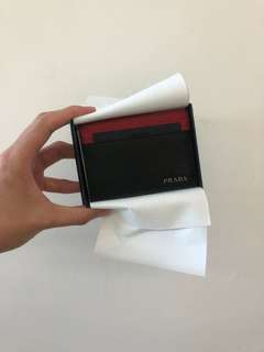 全新PRADA  card holder 卡片套