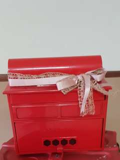 Post box red wedding box