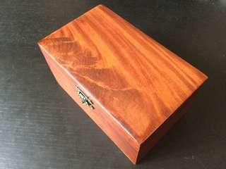 花梨木首飾盒 實木收納盒 越南紅木復古中式木盒