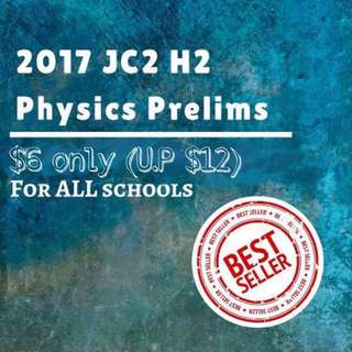 H2 Physics Prelim 2017